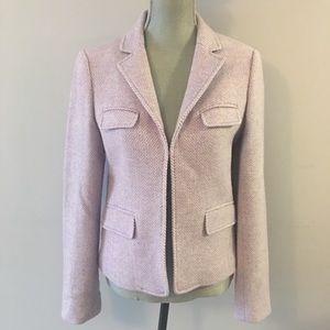 J Crew Lavender Chevron Wool Lady Jacket Blazer